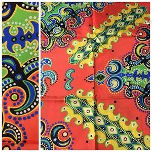 Vintage 1970's Fabric Colorful Novelty Estate Find